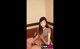 Chinese happy ending CFNM handjob 6