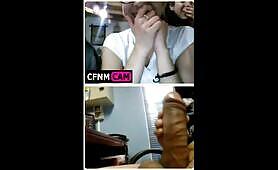 Whacking off on webcam for girls
