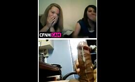 Reaction to a webcam cumshot