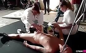 Public Brazilian waxing