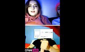 Webcam girls watch guy cum